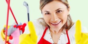 Wir putzen die Wohnung oder das Haus